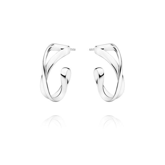 Silver Infinity Earhoops