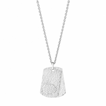 Silver Mens Smithy Dog Tag pendant