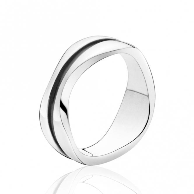 Silver Modern Ring 574 Georg Jensen