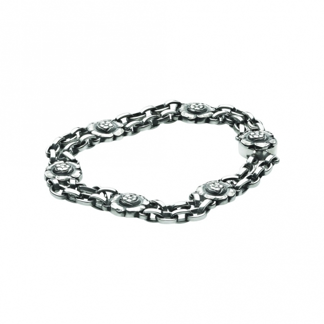 Silver Moonlight Blossom Bracelet