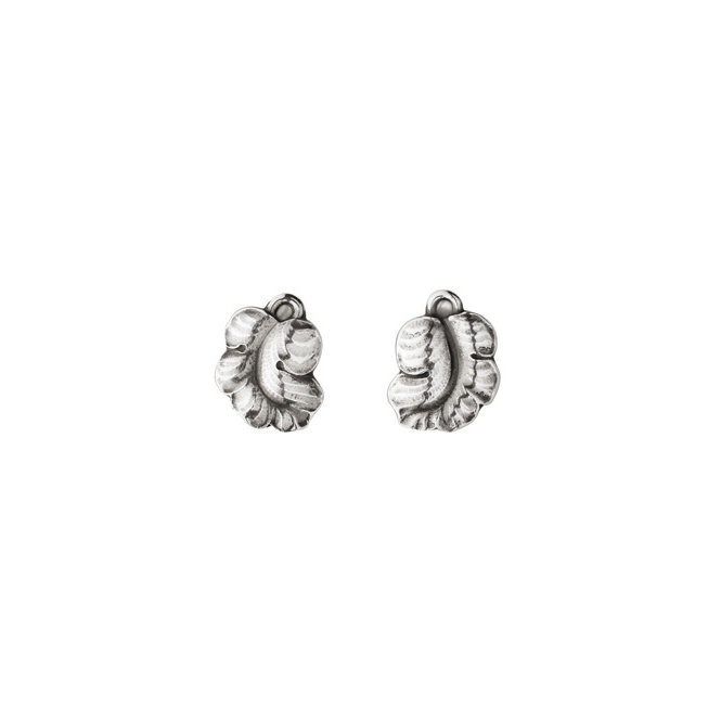 Silver Moonlight Grapes Clip Stud Earrings