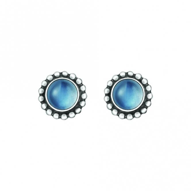 Silver & Moonstone Moonlight Blossom Ear Studs