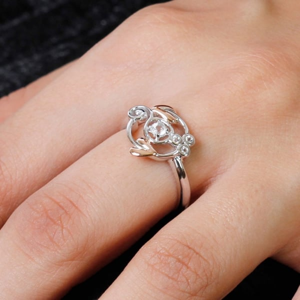 Silver Origin Topaz Ring