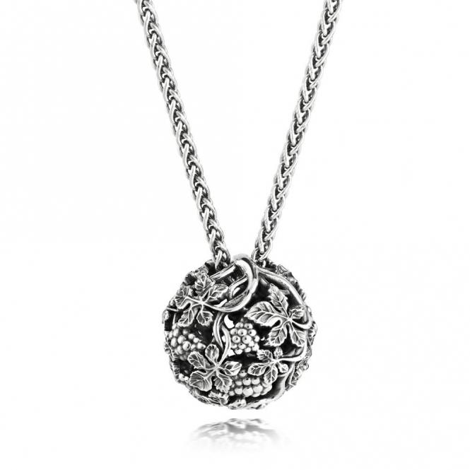 Silver Oxidised Alban Grapevine Pendant