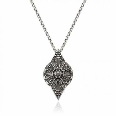 Silver Oxidised Alban Snowdrop Pendant