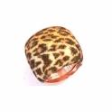 Silver & Pink Gold Polvere di Sogni Jaguar Print Ring