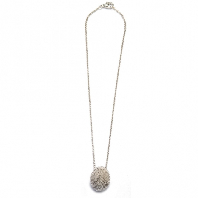 Silver Pixel Rhodium Necklace