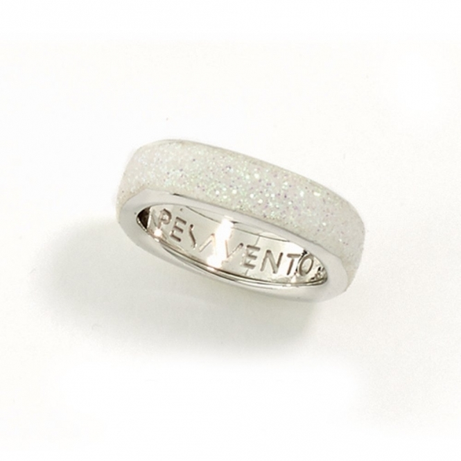 Silver & Rhodium Polvere di Sogni Soft Ring