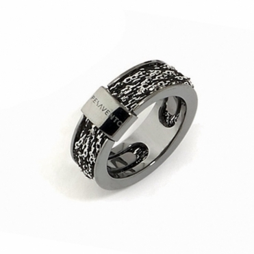 Silver & Ruthenium DNA Ring