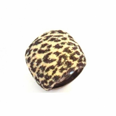 Silver & Ruthenium Polvere di Sogni Animal Print Ring
