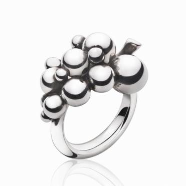 Silver Small Moonlight Grapes Ring