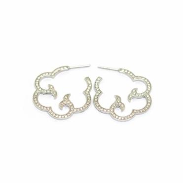 Silver & Swarovski Crystal Cloud Earrings