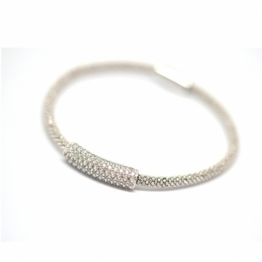 Silver & Swarovski Crystal Stardust Imperial Bangle