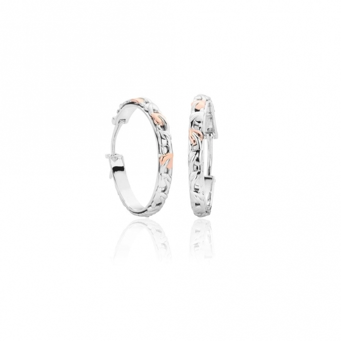 a904c929e Silver Tree of Life Hoop Earrings | Clogau Gold