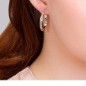 Silver Tree of Life Hoop Earrings