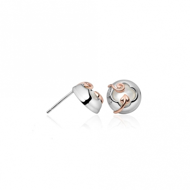 Silver Tudor Court Stud Earrings