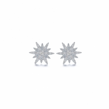 Snowflake Festive Star Sterling Silver Earrings