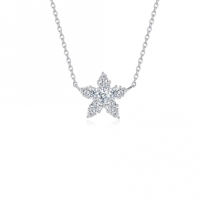 Snowflake Luminous Star Sterling Silver Pendant