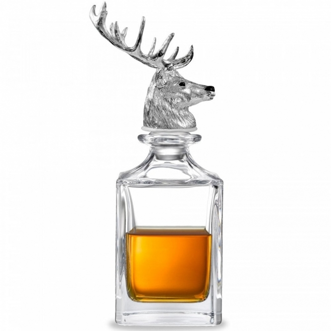 Stag's Head Stopper and Crystal Decanter