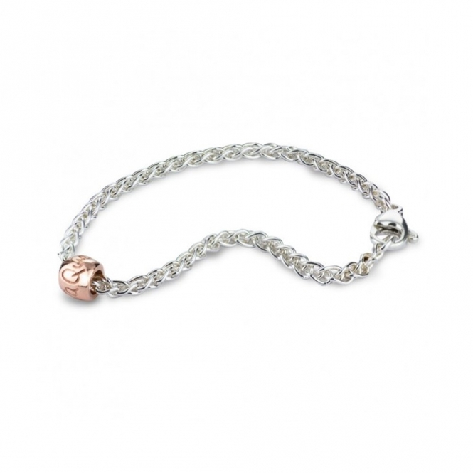 Sterling Silver & 9ct Rose Gold Que Sera Bracelet