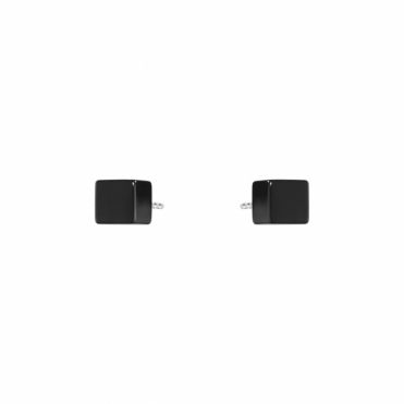Sterling Silver and Black Onyx Aria Stud Earrings