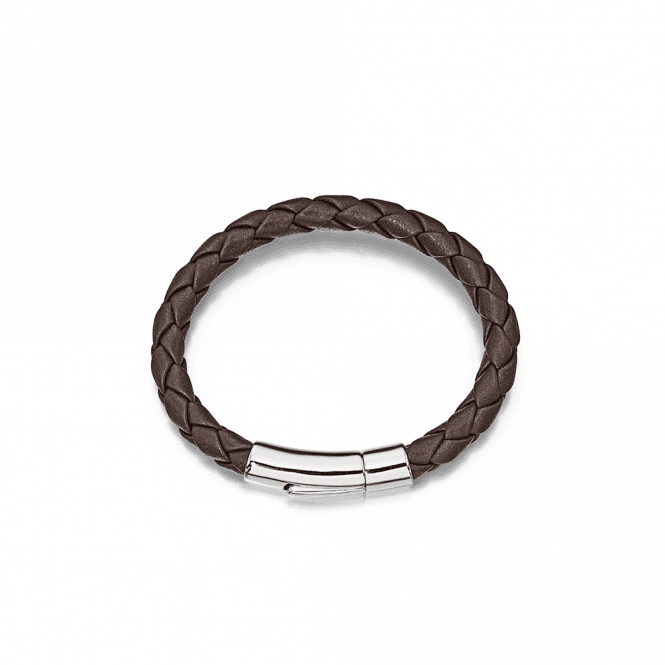 Sterling Silver Andre Boys Leather Bracelet