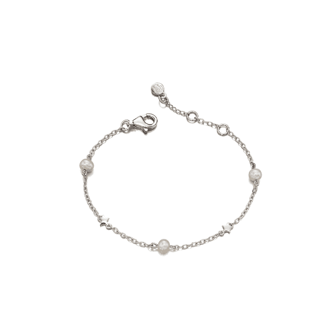 Sterling Silver Anja Freshwater Pearl and Star Bracelet