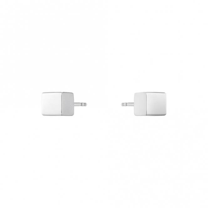 Sterling Silver Aria Cube Stud Earrings