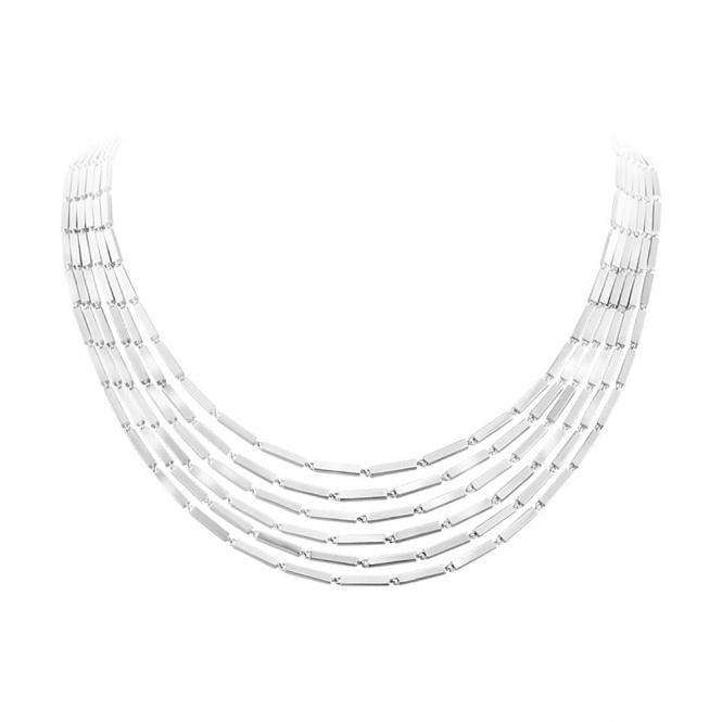 Sterling Silver Aria Five Strand Necklace