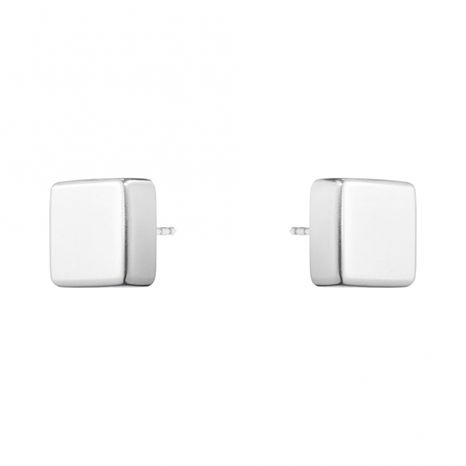 Sterling Silver Aria Square Stud Earrings