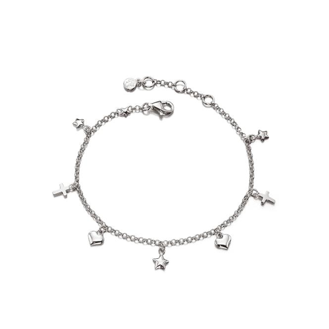 Sterling Silver Athena Charm Bracelet