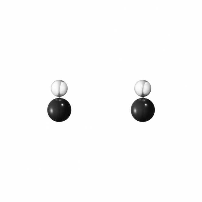 Sterling Silver & Black Onyx Moonlight Grapes Earrings