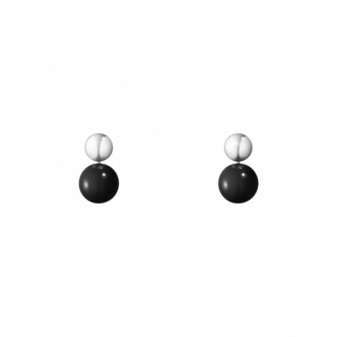 Sterling Silver & Black Onyx Moonlight Grapes Earrings