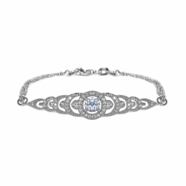 Sterling Silver Brilliance Graduation Bracelet