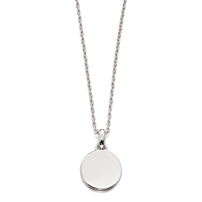 Sterling Silver Childs Bobbi Plain Small Disc Pendant