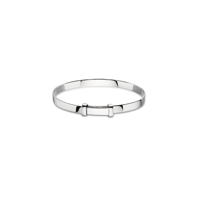 Sterling Silver Cote Plain Christening Bangle