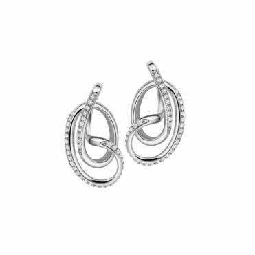 Sterling Silver CZ Serenity Stud Earrings