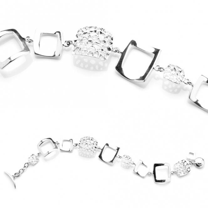 Sterling Silver Deco Bracelet