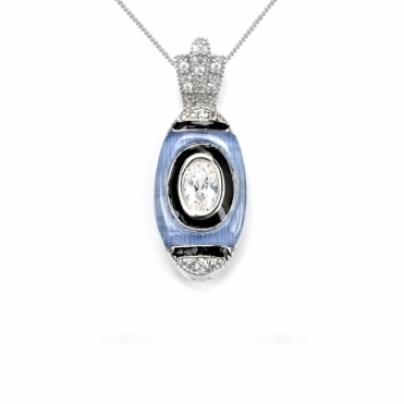 Sterling Silver Deco Chanin Pendant