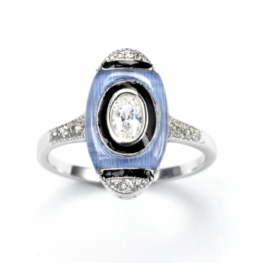 Sterling Silver Deco Chanin Ring