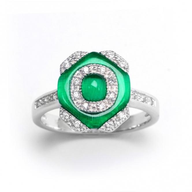 Sterling Silver Deco Garbo Ring