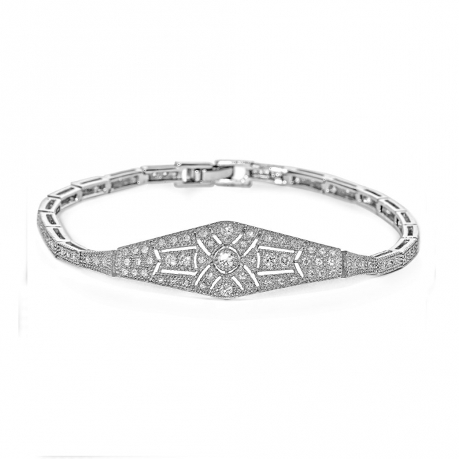 Sterling Silver Deco Streamline Bracelet