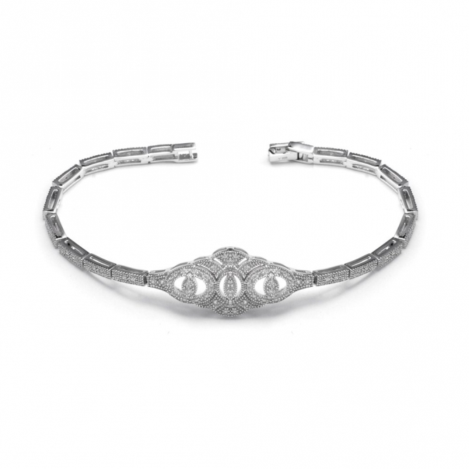 Sterling Silver Deco Symmetry Bracelet
