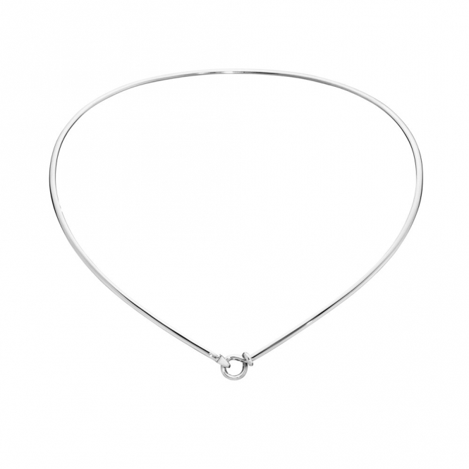 Sterling Silver Dew Drop Neck Ring 174