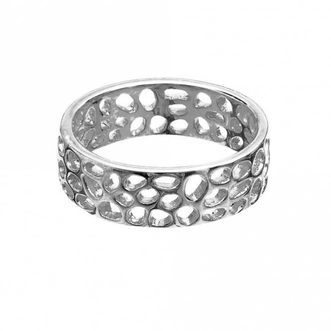 Sterling Silver Enkai Sun Band Ring