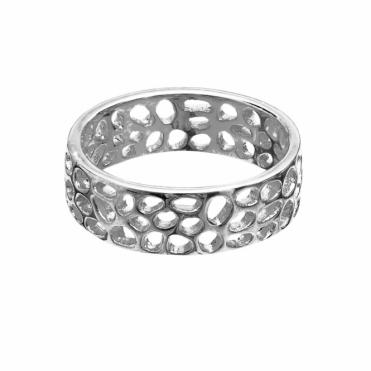 Sterling Silver Enkai Sun Band Ring