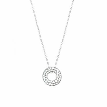 Sterling Silver Enkai Sun Small Pendant