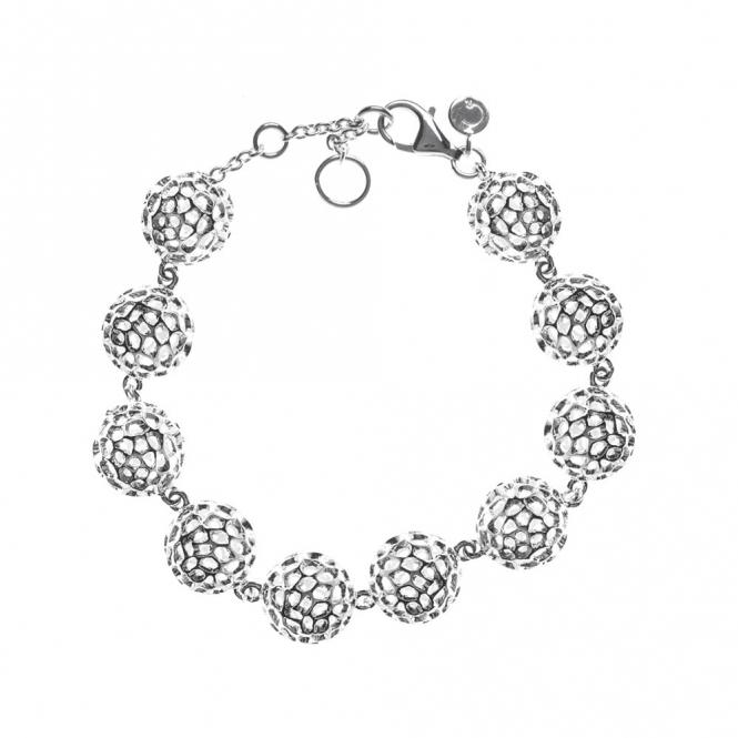 Sterling Silver Globe Bracelet