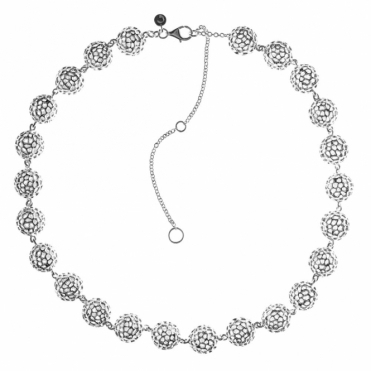 Sterling Silver Globe Necklace