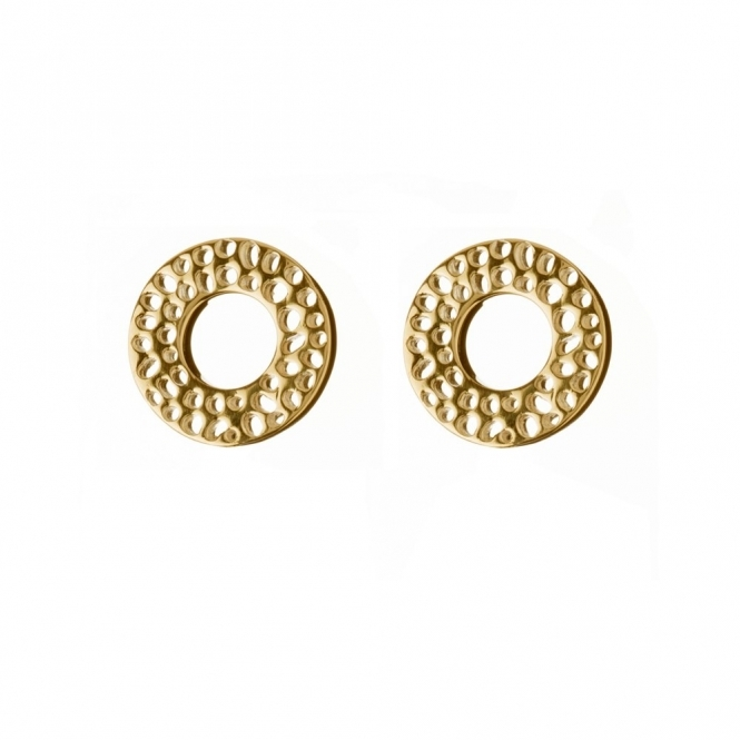 Sterling Silver & Gold Plate Enkai Sun Stud Earrings